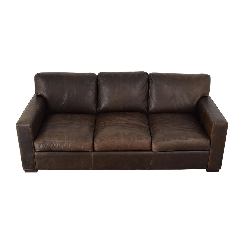 Crate & Barrel Crate & Barrel Axis II Brown Three-Cushion Sofa coupon