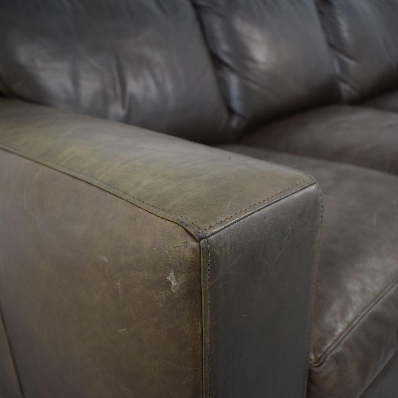 buy Crate & Barrel Crate & Barrel Axis II Brown Three-Cushion Sofa online