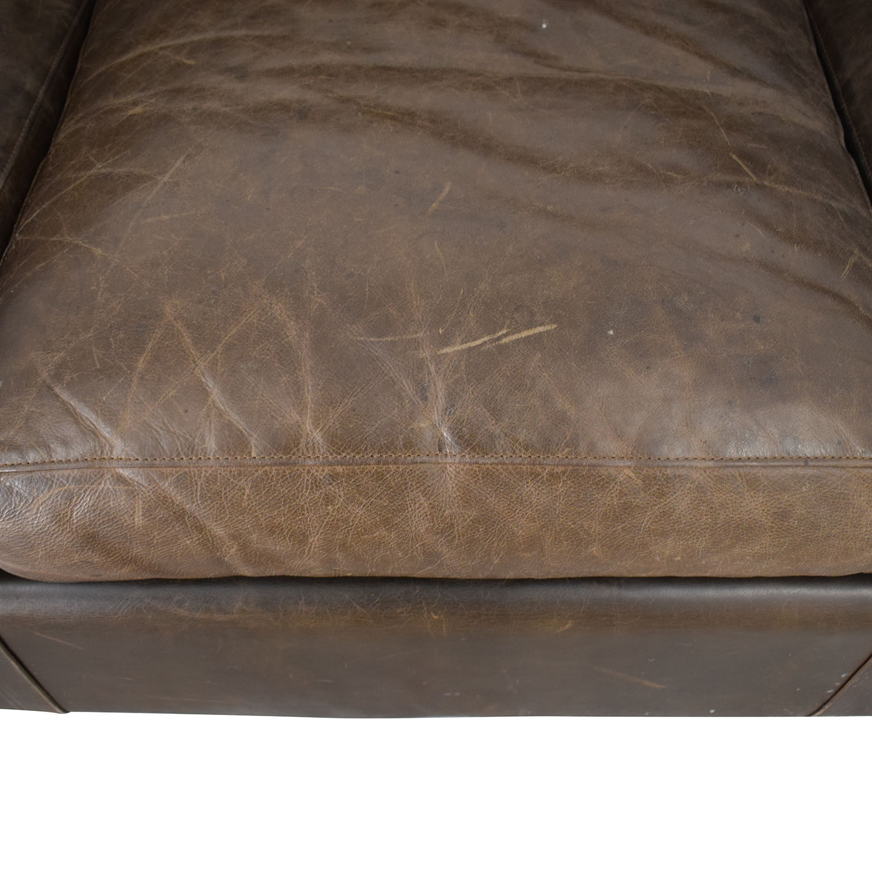 buy Crate & Barrel Axis II Brown Three-Cushion Sofa Crate & Barrel Classic Sofas