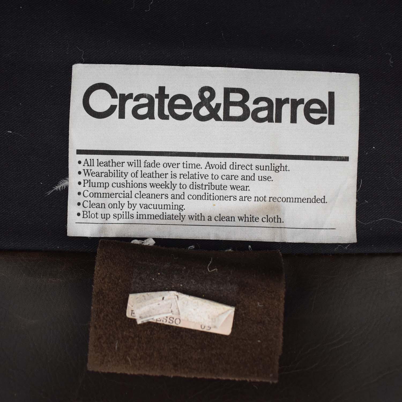Crate & Barrel Axis II Brown Three-Cushion Sofa / Classic Sofas