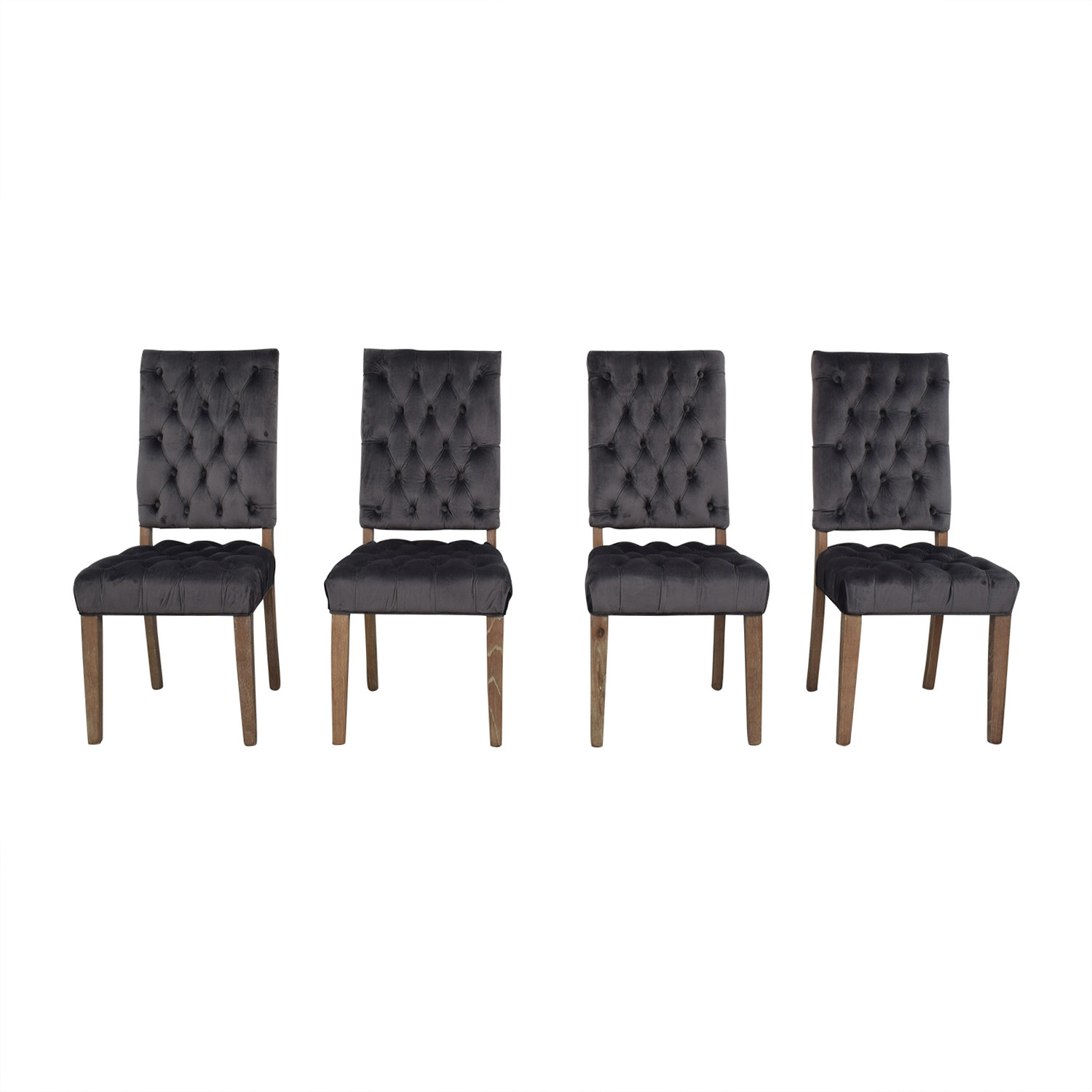 Classic Concepts Classic Concepts Onyx Tufted Dining Chairs second hand