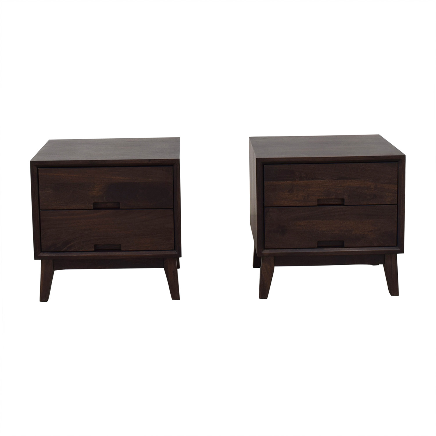 Crate & Barrel Steppe Nightstands / End Tables