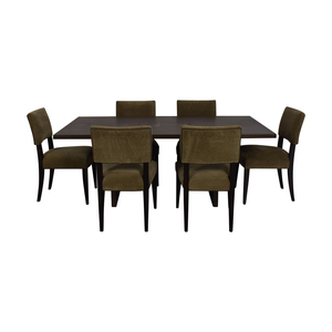 Crate & Barrel Monarch Dining Table and Cody Dining Chairs sale
