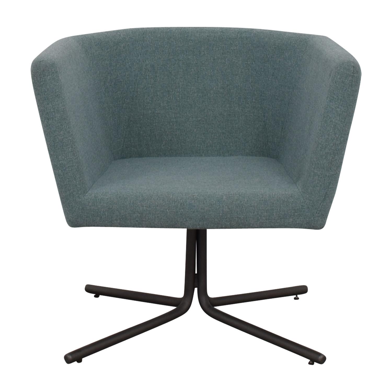 CB2 Facetta Cyan Chair / Accent Chairs