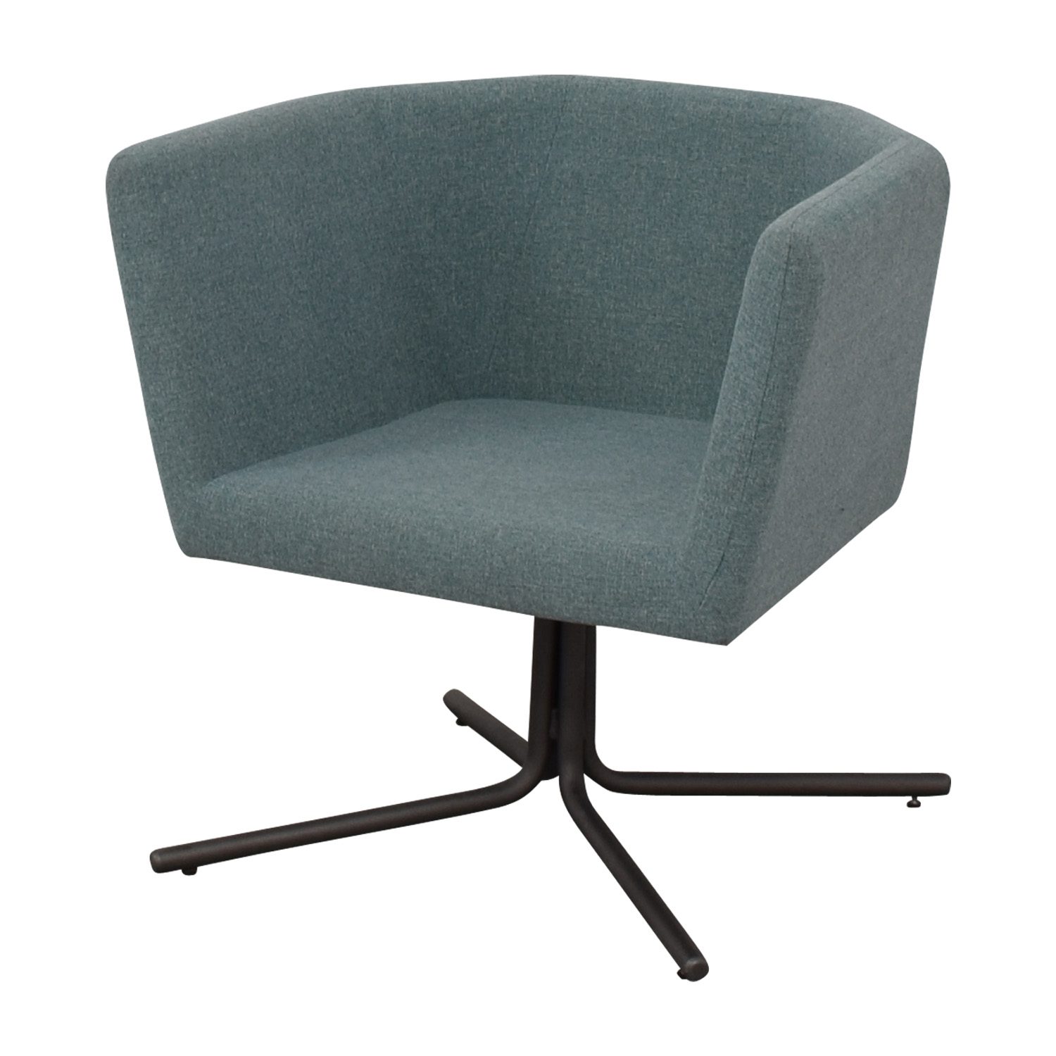 CB2 CB2 Facetta Cyan Chair Accent Chairs
