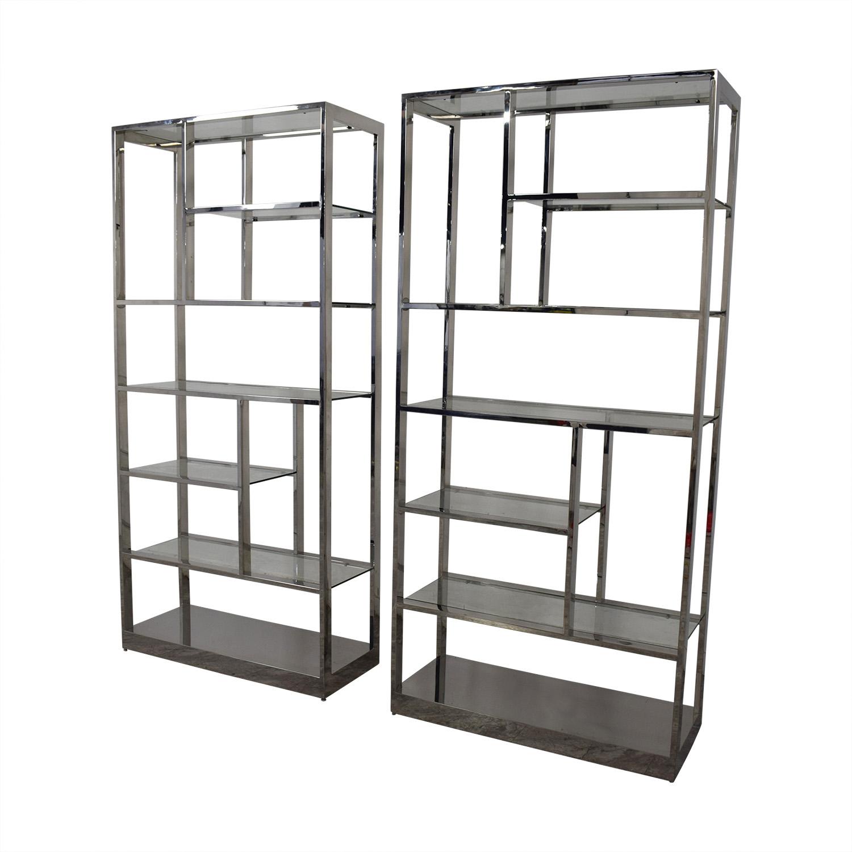 Chrome Bookcases Storage