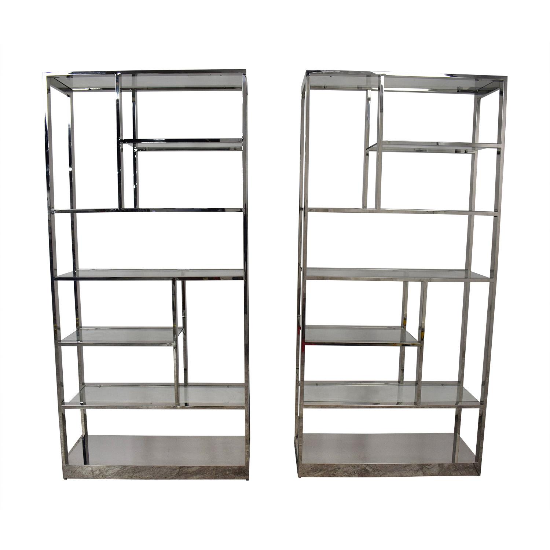 Chrome Bookcases dimensions