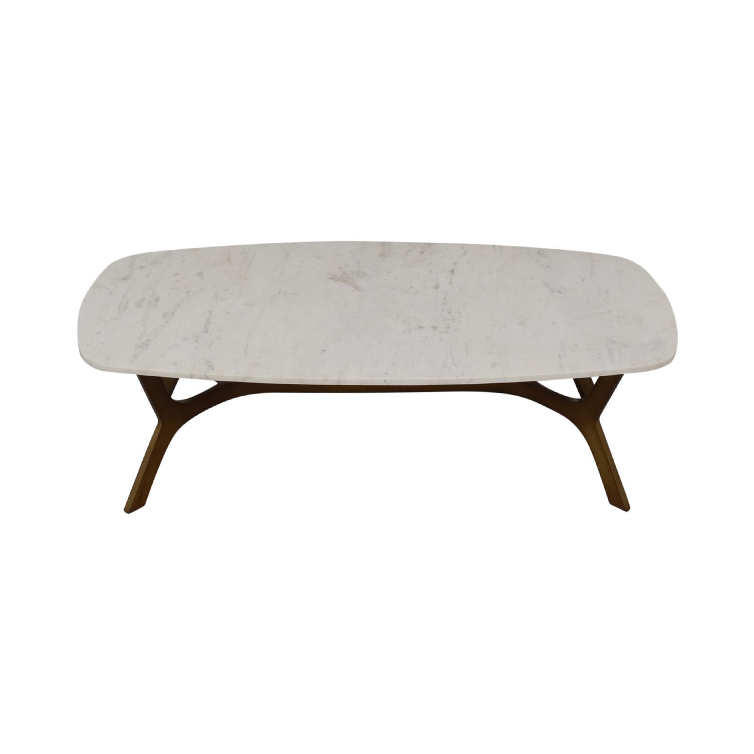 Crate & Barrel Crate & Barrel Elke Marble Coffee Table With Brass Base