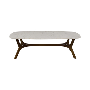 shop Crate & Barrel Elke Marble Coffee Table With Brass Base Crate & Barrel Tables