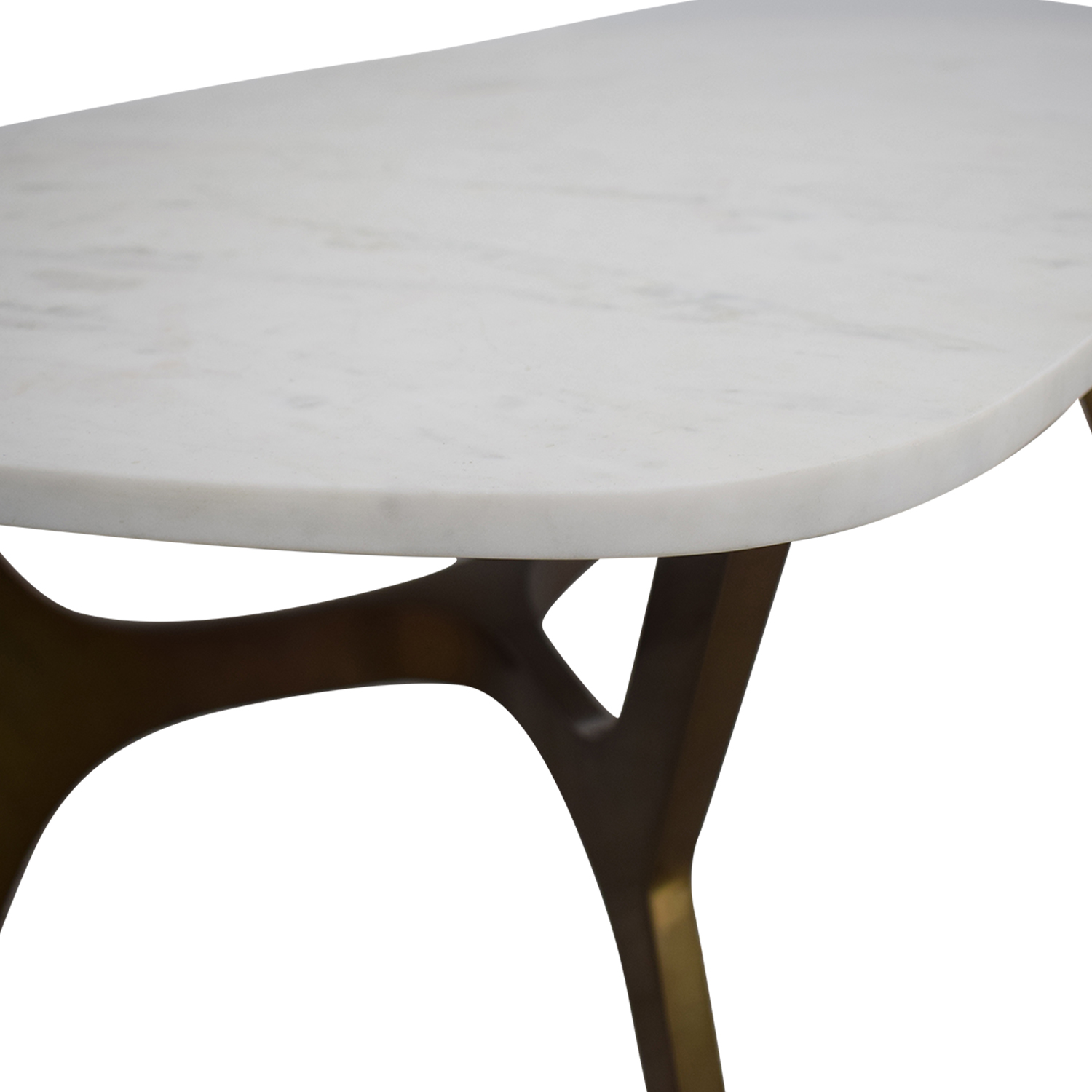 Crate & Barrel Crate & Barrel Elke Marble Coffee Table With Brass Base Tables