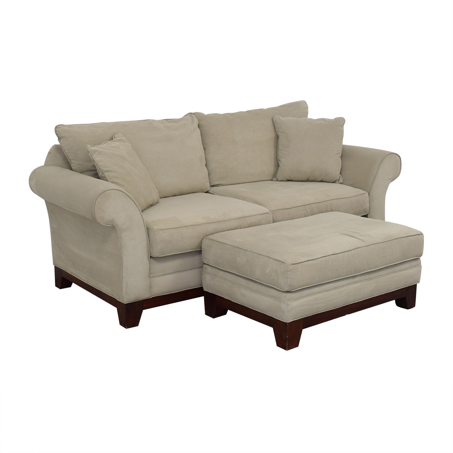 buy Craftmaster Furniture Microsuede Couch and Ottoman Craftmaster Furniture Sofas