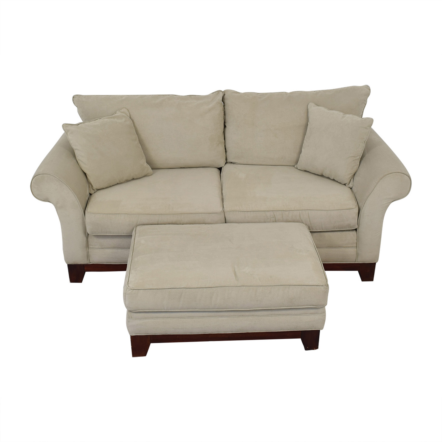 Craftmaster Furniture Craftmaster Furniture Microsuede Couch and Ottoman price
