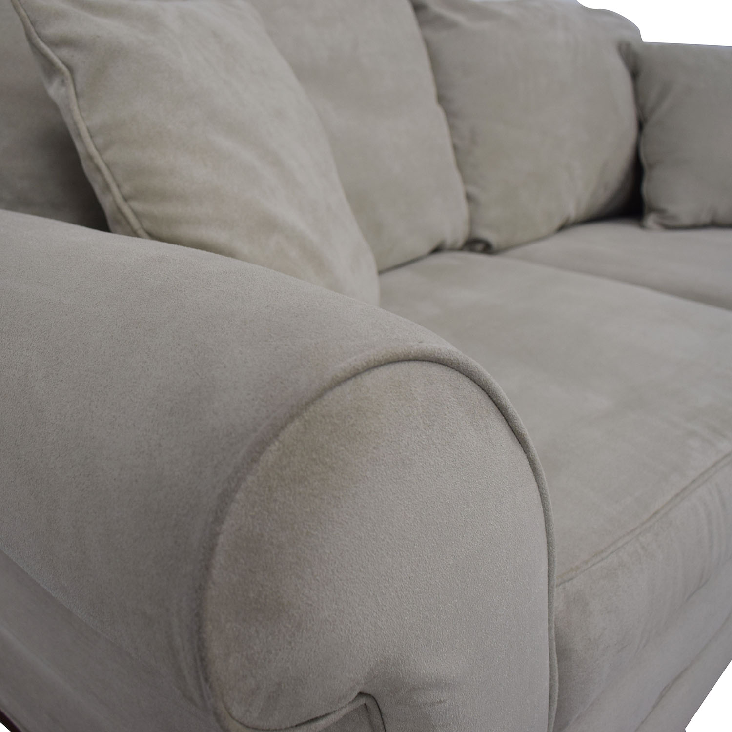 Craftmaster Furniture Craftmaster Furniture Microsuede Couch and Ottoman Sofas