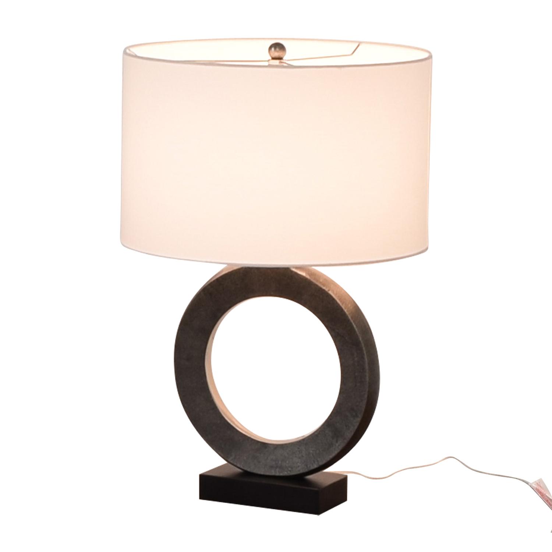 Crate & Barrel Crate & Barrel Crest Silver Table Lamp on sale