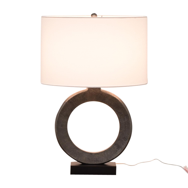 Crate & Barrel Crest Silver Table Lamp Crate & Barrel