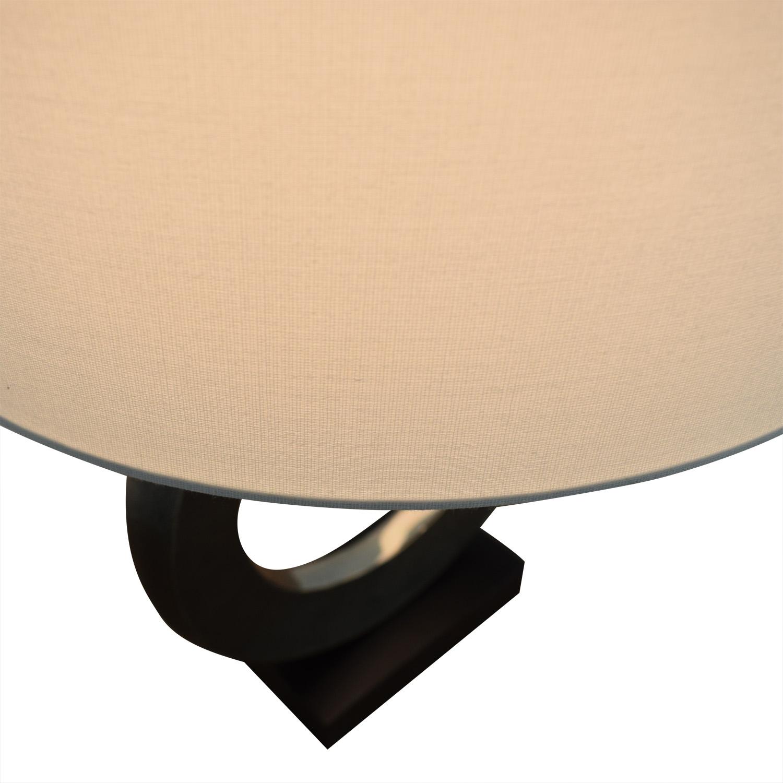 shop Crate & Barrel Crest Silver Table Lamp Crate & Barrel
