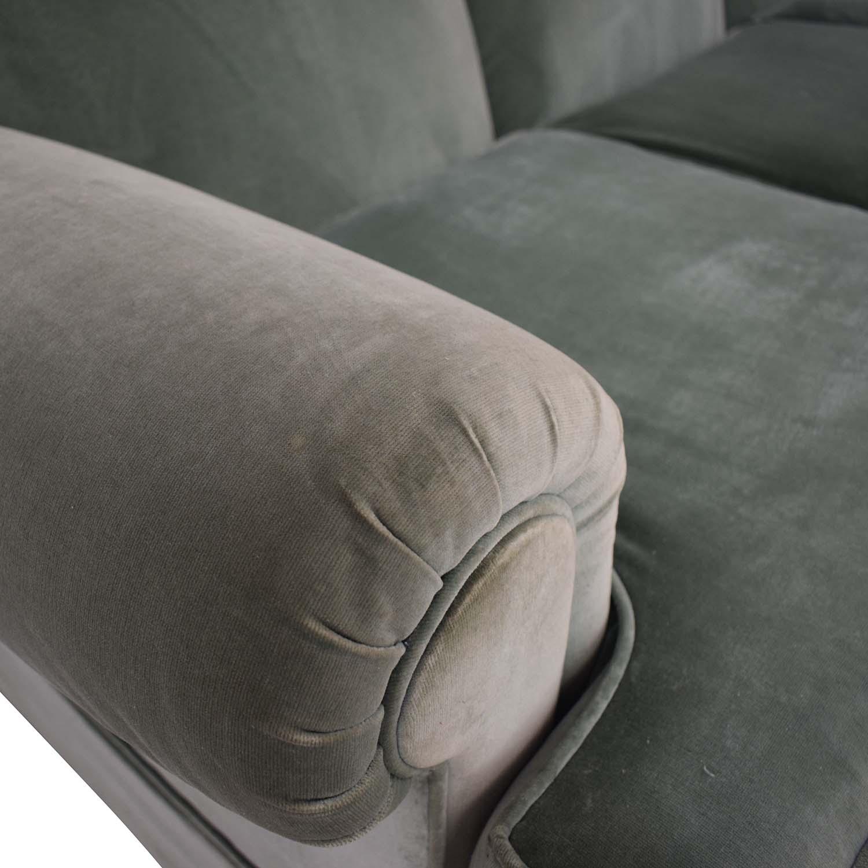 Vintage Green Three-Cushion Sofa on sale