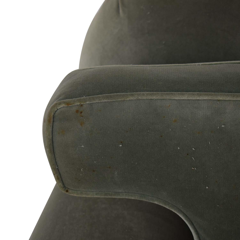 Vintage Green Three-Cushion Sofa nj