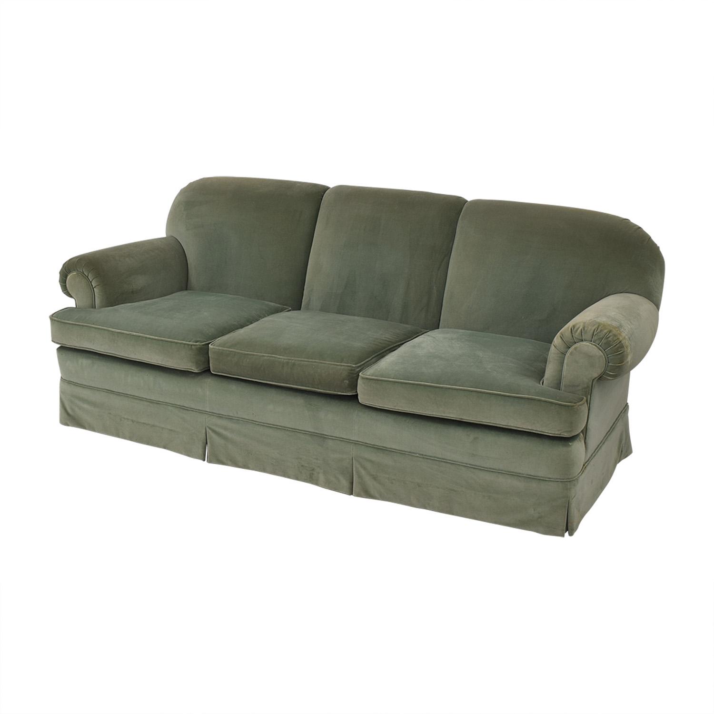 Vintage Green Three-Cushion Sofa discount