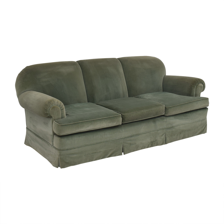 shop Vintage Green Three-Cushion Sofa