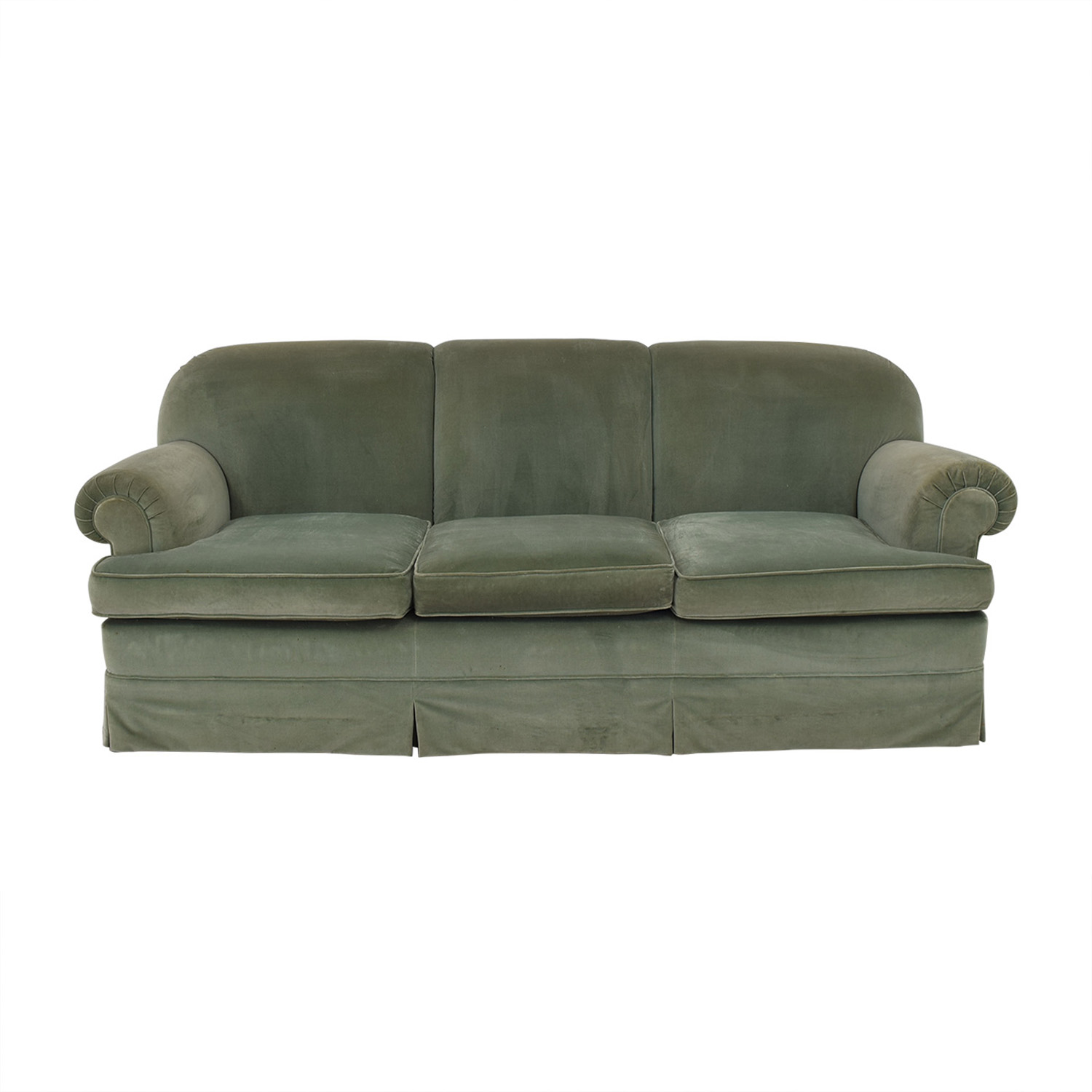 buy  Vintage Green Three-Cushion Sofa online
