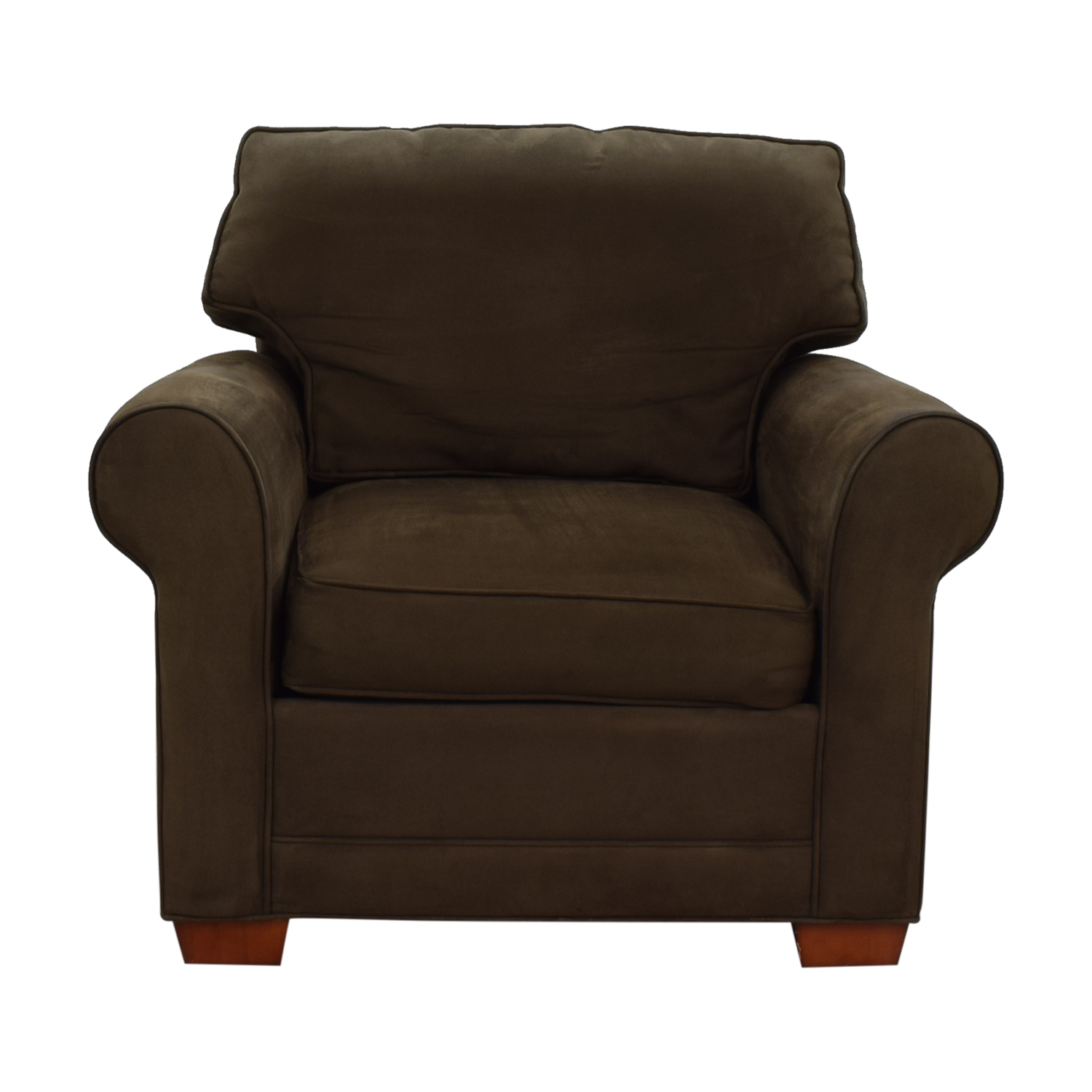 Raymour & Flanigan Brown Microfiber Accent Chair Raymour & Flanigan
