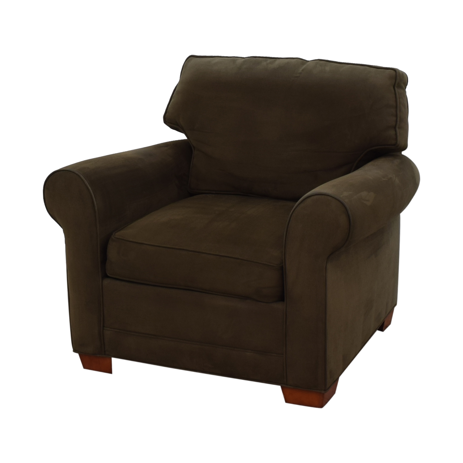 Raymour & Flanigan Raymour & Flanigan Brown Microfiber Accent Chair dimensions