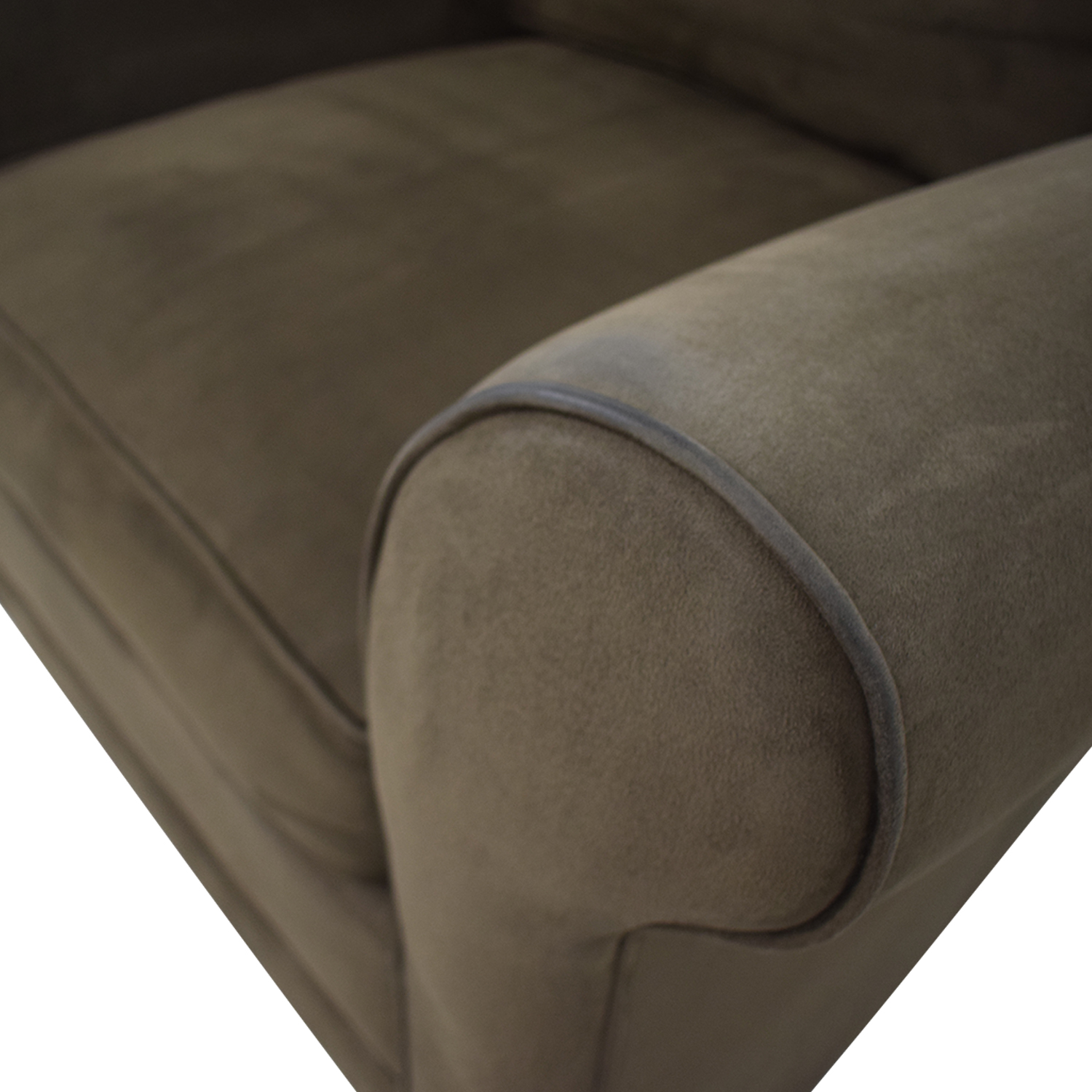 shop Raymour & Flanigan Raymour & Flanigan Brown Microfiber Accent Chair online