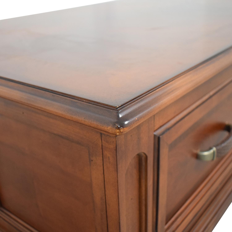 Raymour & Flanigan Raymour & Flanigan Brownstone Two-Drawer Coffee Table used