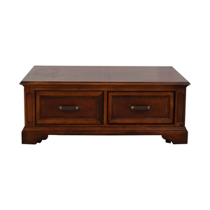 buy Raymour & Flanigan Brownstone Two-Drawer Coffee Table Raymour & Flanigan Tables