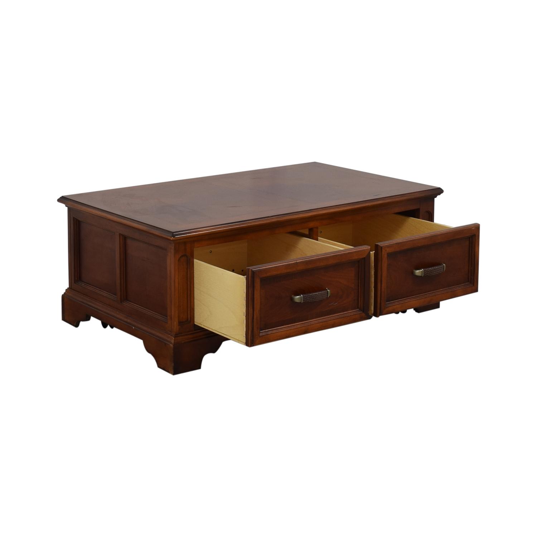 Raymour & Flanigan Raymour & Flanigan Brownstone Two-Drawer Coffee Table price