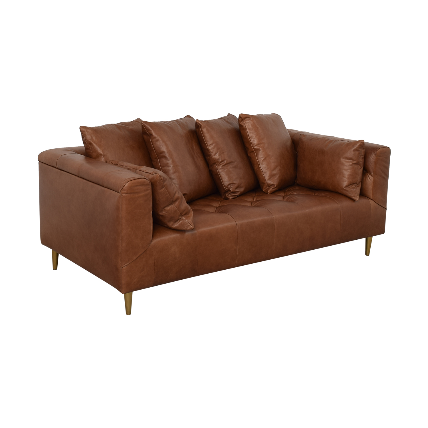 buy Ms. Chesterfield Cognac Tufted Sofa Interior Define Sofas