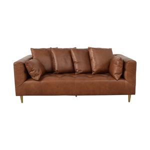 Interior Define Ms. Chesterfield Cognac Tufted Sofa