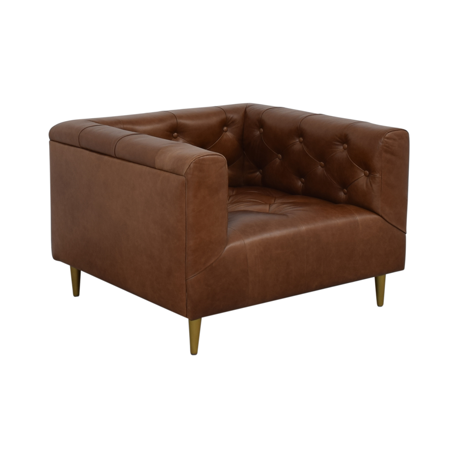 buy Interior Define Ms. Chesterfield Cognac Tufted Accent Chair online