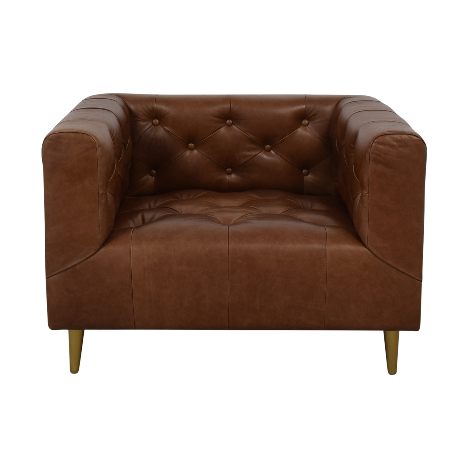 buy Ms. Chesterfield Cognac Tufted Accent Chair Interior Define