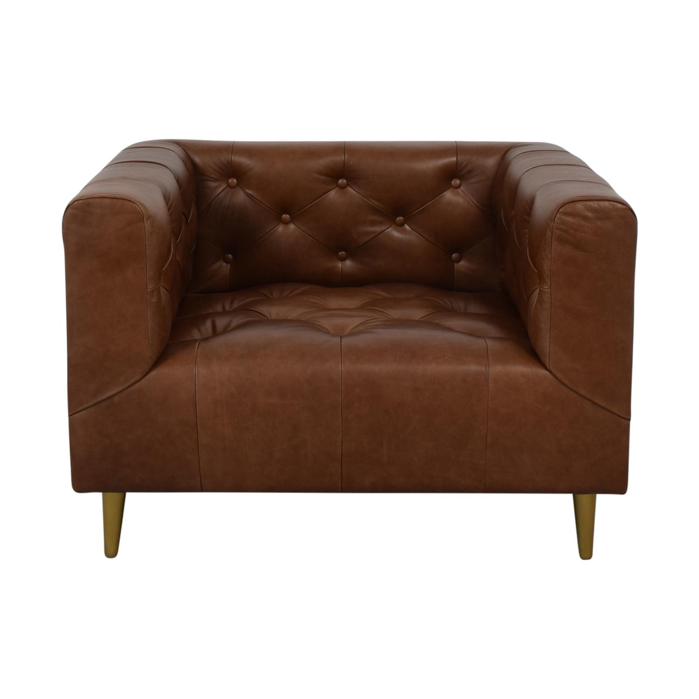 shop Interior Define Ms. Chesterfield Cognac Tufted Accent Chair online