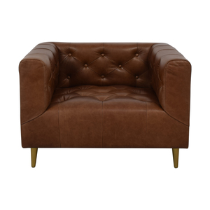 Ms. Chesterfield Cognac Tufted Accent Chair / Chairs