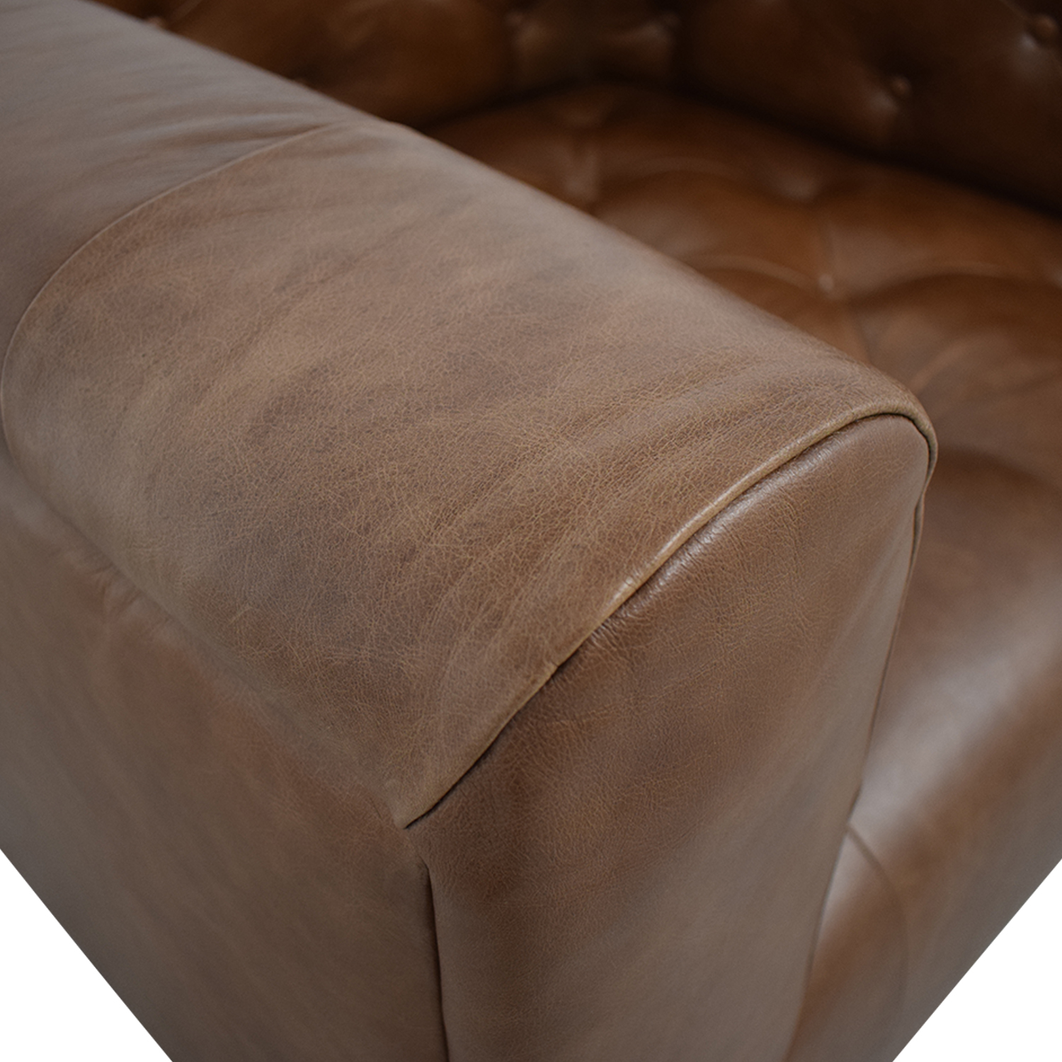 Interior Define Ms. Chesterfield Cognac Tufted Accent Chair brown