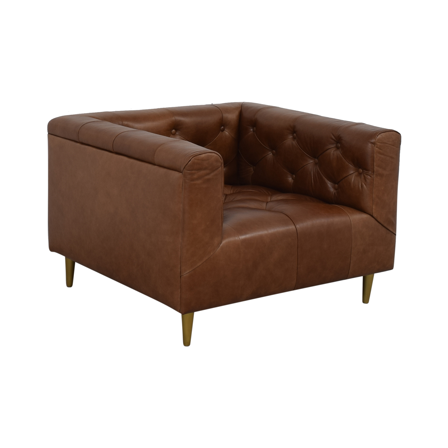 buy Ms. Chesterfield Cognac Tufted Accent Chair Interior Define Accent Chairs