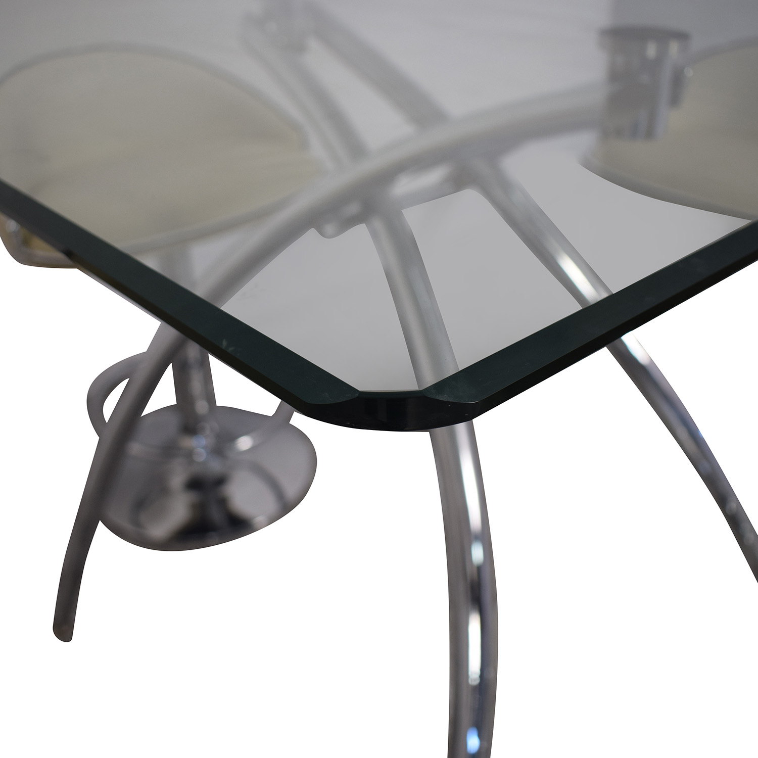 Chintaly Imports Chintaly Imports Adjustable Bar Stools and Glass Table Set for sale