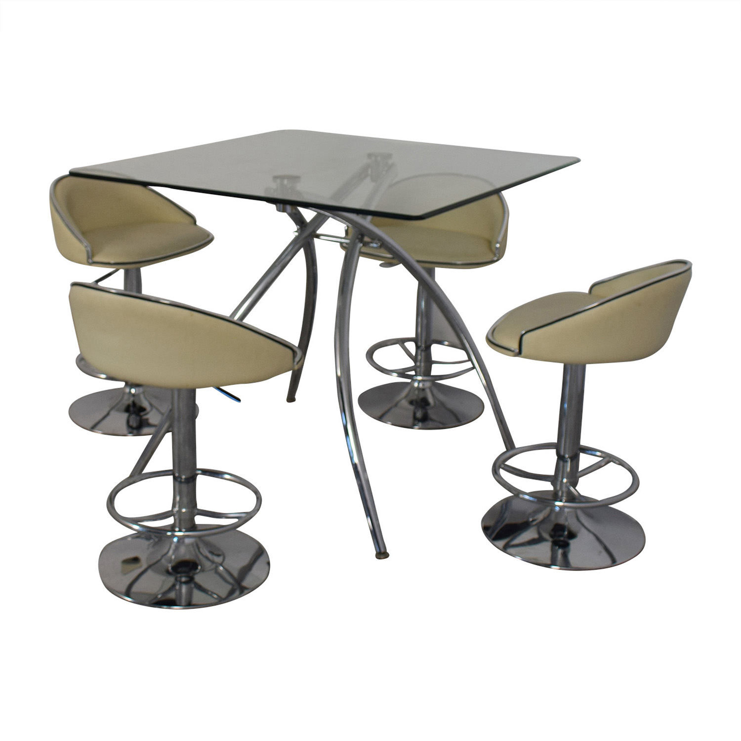 Chintaly Imports Chintaly Imports Adjustable Bar Stools and Glass Table Set coupon