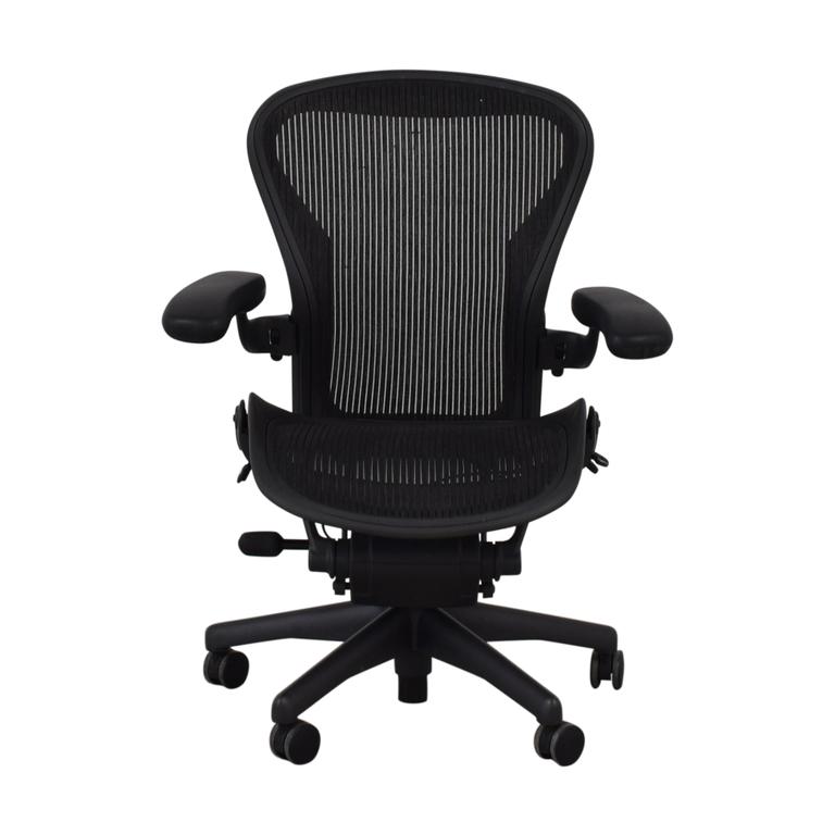 buy Herman Miller Herman Miller Aeron Size B Black Office Desk Chair online