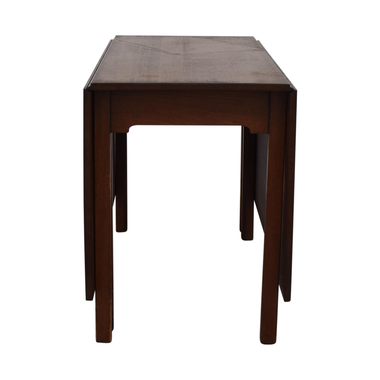Kittinger Furniture Kittinger Furniture Adjustable Dining Room Table brown
