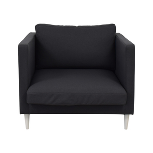 Interior Define Oliver Smoke Structured Cloth Chair