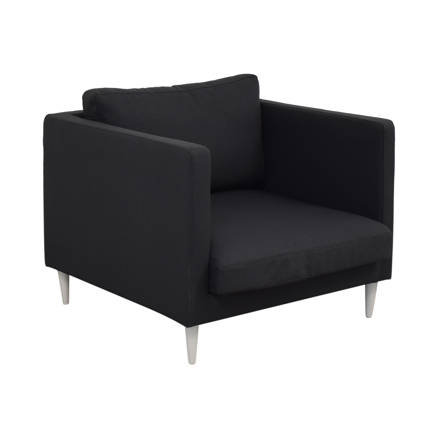 Oliver Smoke Structured Cloth Chair sale