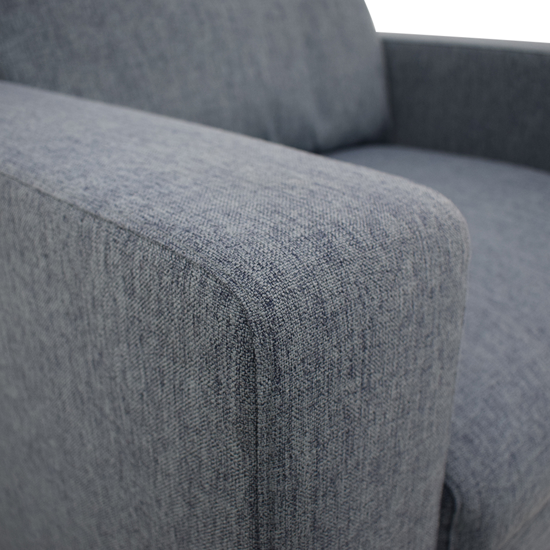 Interior Define Henry Accent Chair Cross Weave Rain nyc
