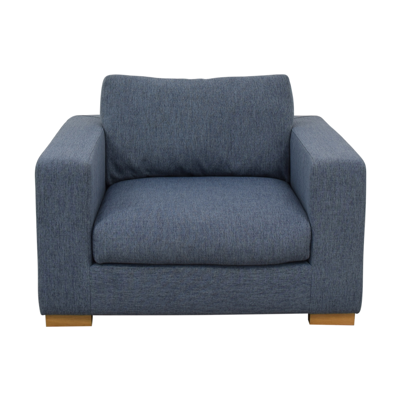 Interior Define Henry Accent Chair Cross Weave Rain