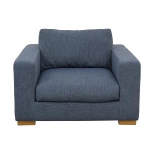 Henry Accent Chair Cross Weave Rain sale