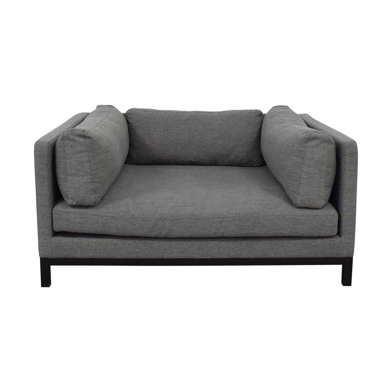 shop Jasper Cross Weave Mushroom Single-Cushion Sofa