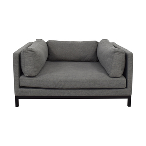 Interior Define Jasper Cross Weave Mushroom Single-Cushion Sofa nj
